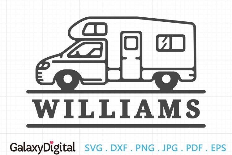 Simple RV Camper SVG, Camping Monogram SVG - 105153