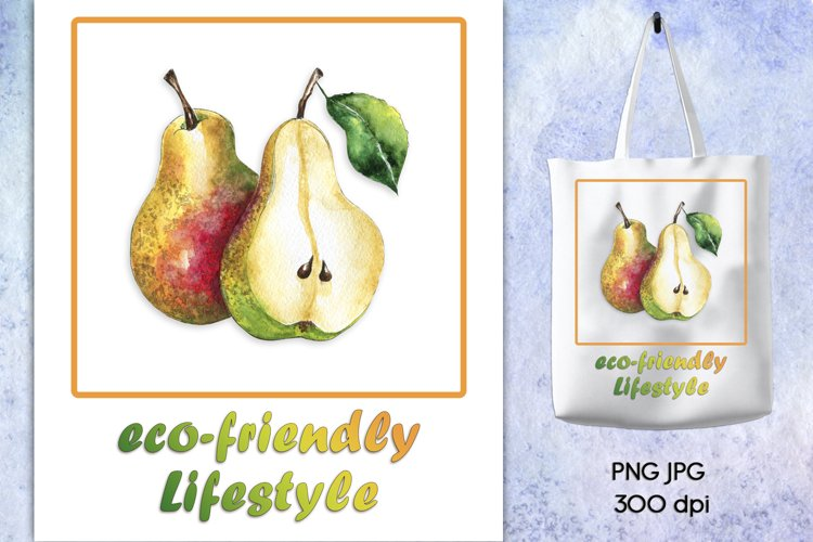 Sublimation design Eco-friendly Lifestyle, Eco bag print PNG