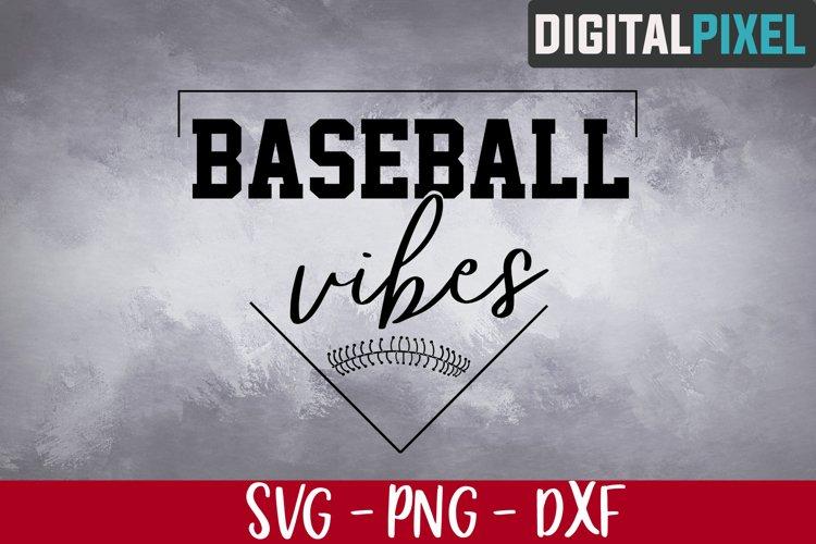 Baseball Vibes Svg, Baseball Svg, Baseball Svg Files