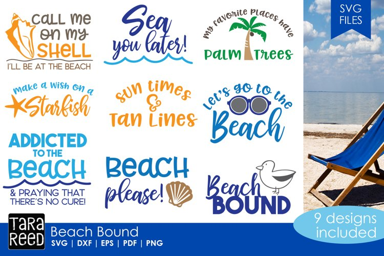 Beach Bound - Beach SVG and Cut Files for Crafters