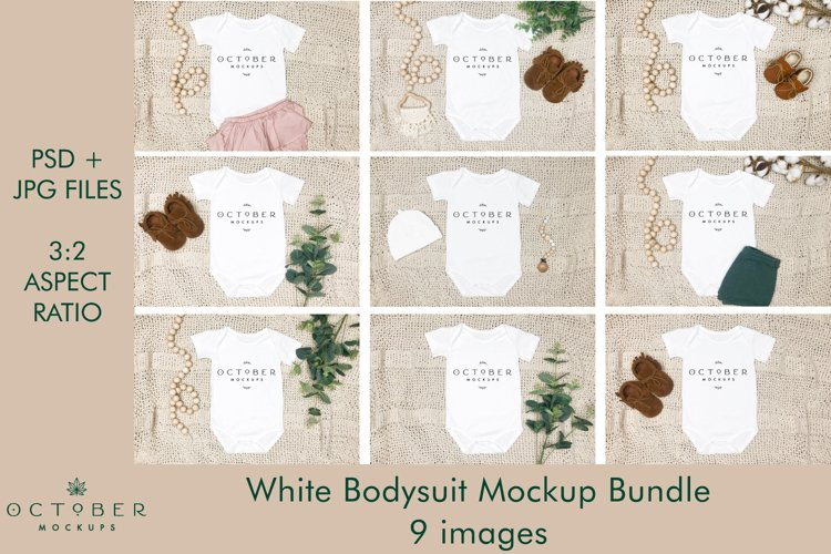 Baby Bodysuit Mockup Bundle   Baby mockup   JPG   PSD example image 1