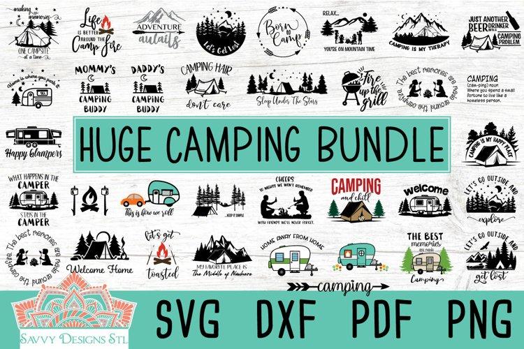 Camping Layered Cut File Bundle