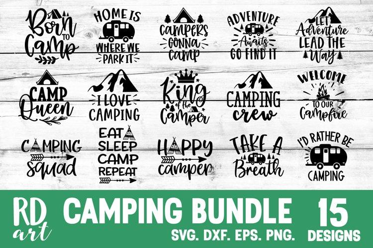 Camping Bundle SVG, DXF, PNG, EPS