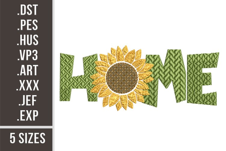Home Sunflower - Embroidery Design example