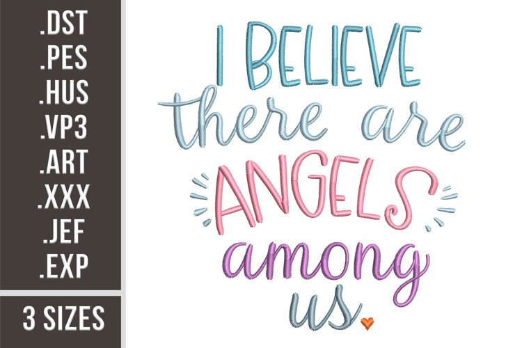 Angels Among Us | Embroidery Design example image 1