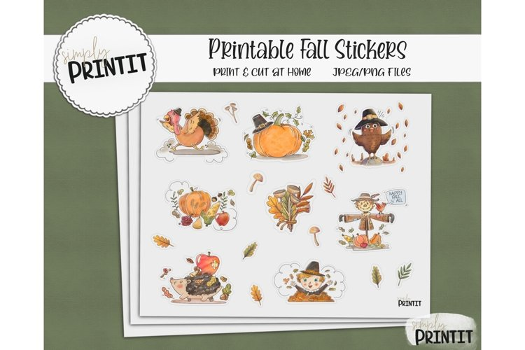 Printable Sticker Bundle, Fall Stickers example image 1