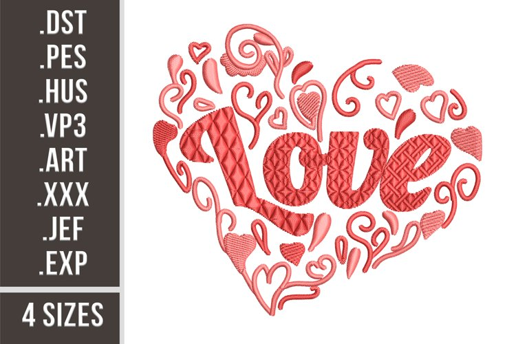 Love Heart - Embroidery Design