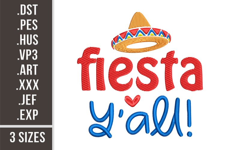 Fiesta Y'all - Embroidery Design example
