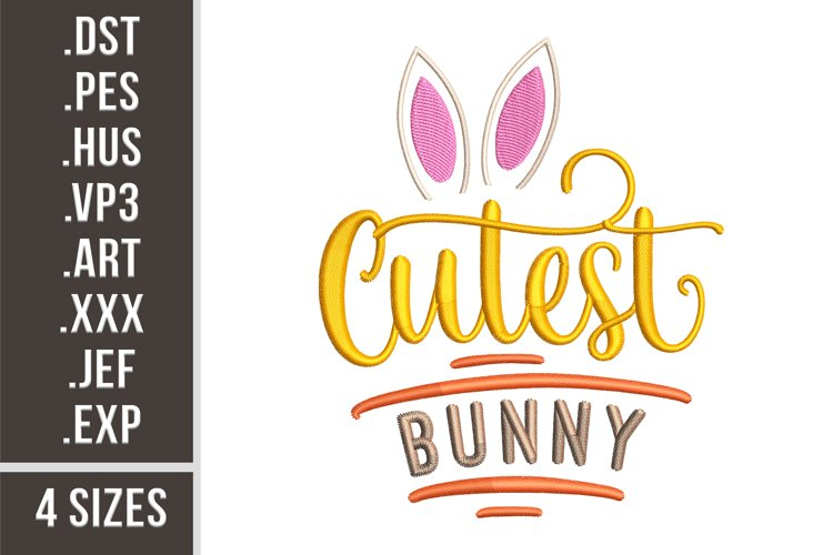 Cutest Bunny - Embroidery Design example
