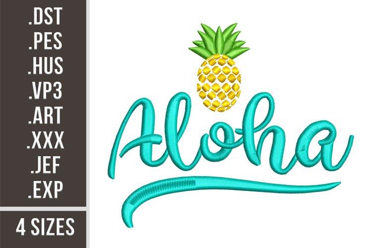 Aloha - Embroidery Design