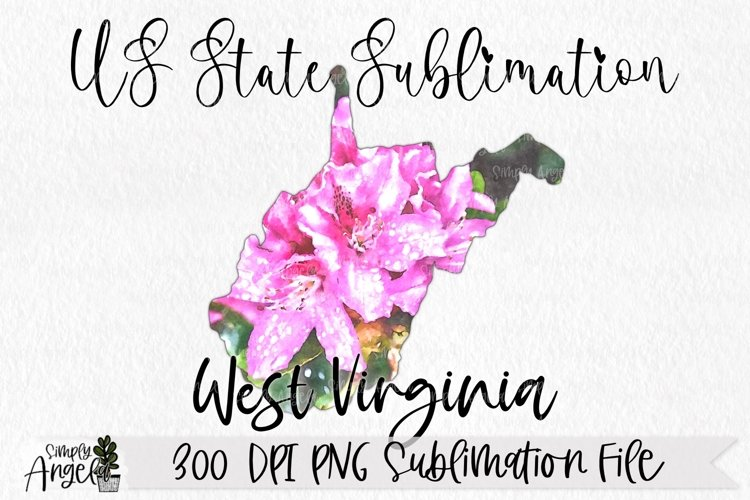 Watercolor US State Flowers - West Virginia example image 1
