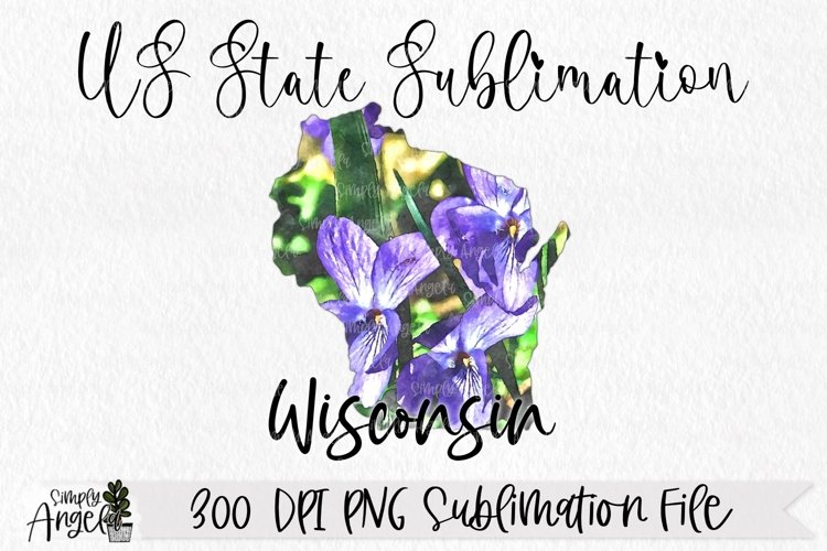 Watercolor US State Flowers - Wisconsin example image 1