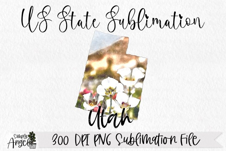 Watercolor US State Flowers - Utah example image 1