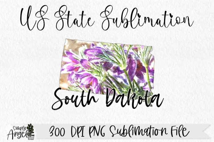Watercolor US State Flowers - South Dakota example image 1