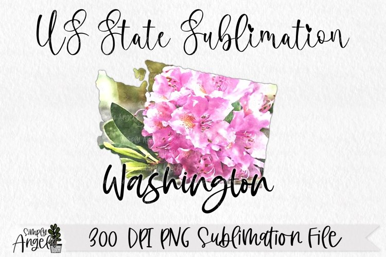 Watercolor US State Flowers - Washington example image 1