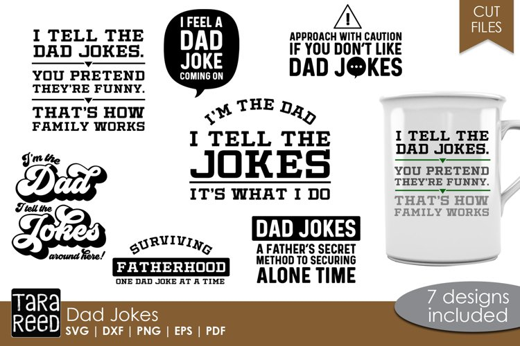 Dad Jokes - Dad SVG and Cut Files
