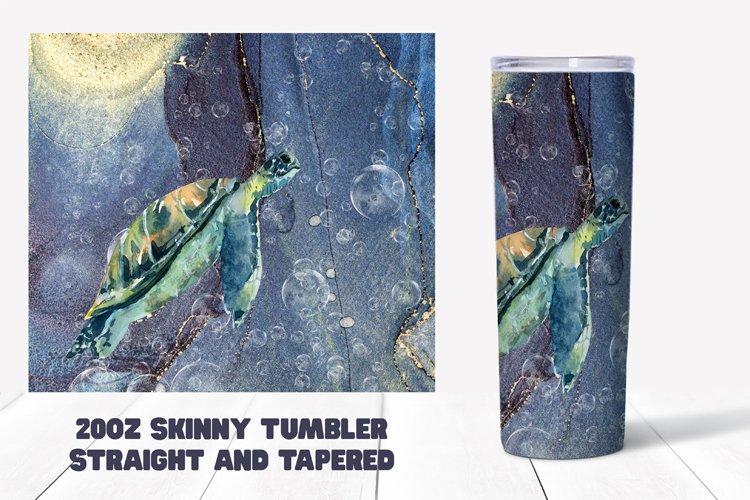 Sea Turtle Sublimation for 20oz Tumbler - Summer Sublimation