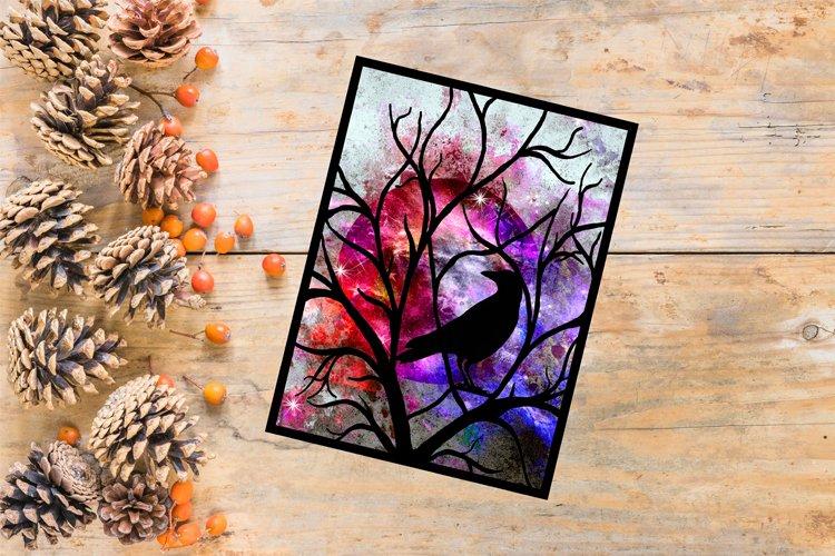 Halloween SVG, Raven SVG, Bird Papercut Template, Fall Decor