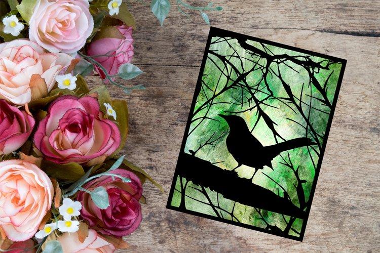 Bird Papercut Template - Paper Cutting Bird - Bird SVG