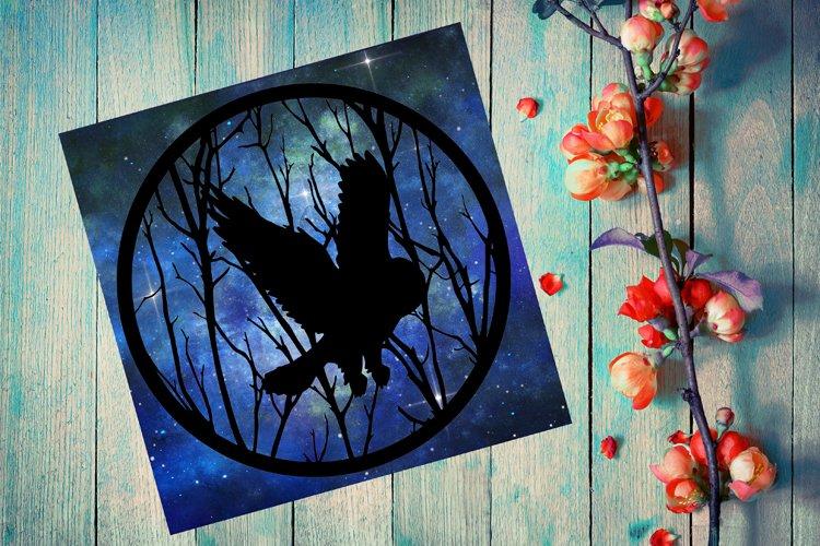 Owl Papercut Template, Owl Paper Cut SVG, Owl SVG, Cricut Ow
