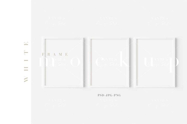 11X14 White Frame Mockup/ JPG PNG PSD Smart Object/M485