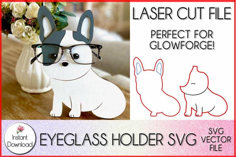 French Bulldog Eyeglass Holder SVG, Frenchie SVG