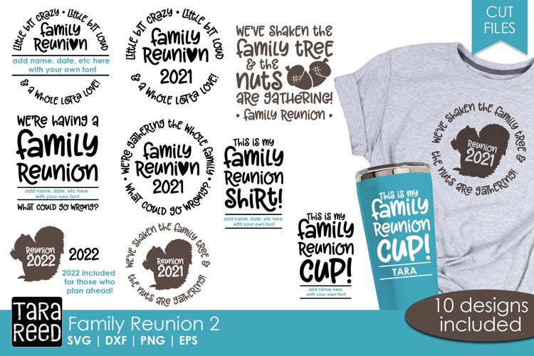 Family Reunion SVG and Cut Files for Crafters