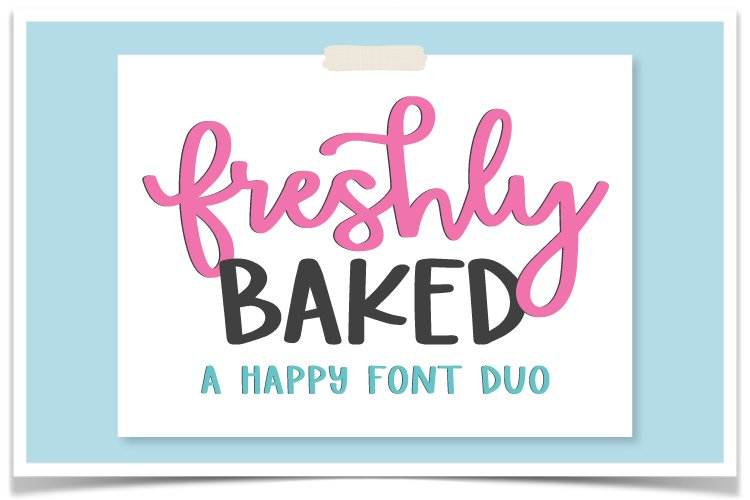 Freshly Baked Font Duo example image 1