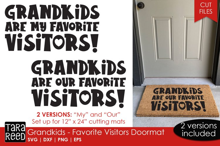 Doormat SVG and Cut files for Grandparents example image 1