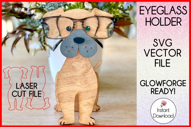 Great Dane Eyeglass Holder SVG, Glowforge SVG Laser File