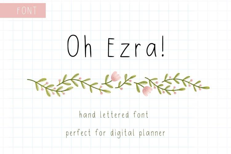 Digital Planner Hand Lettered Font example image 1