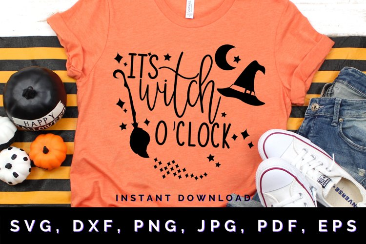 Its Witch oClock svg, Halloween svg, Witch Halloween svg