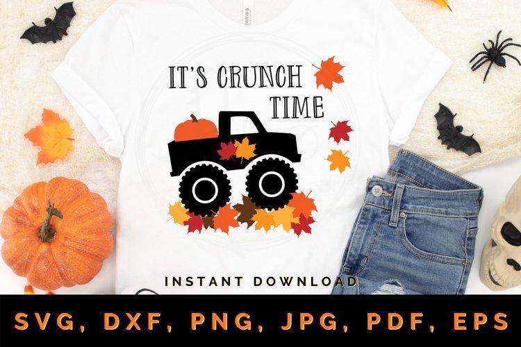 Its Crunch Time svg, Fall svg, Fall truck svg