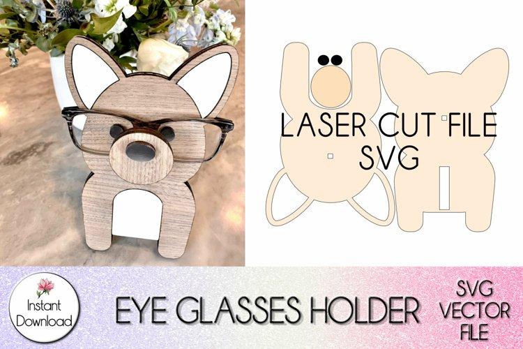 Corgi Eyeglass Holder SVG, Glowforge Laser Cut SVG file