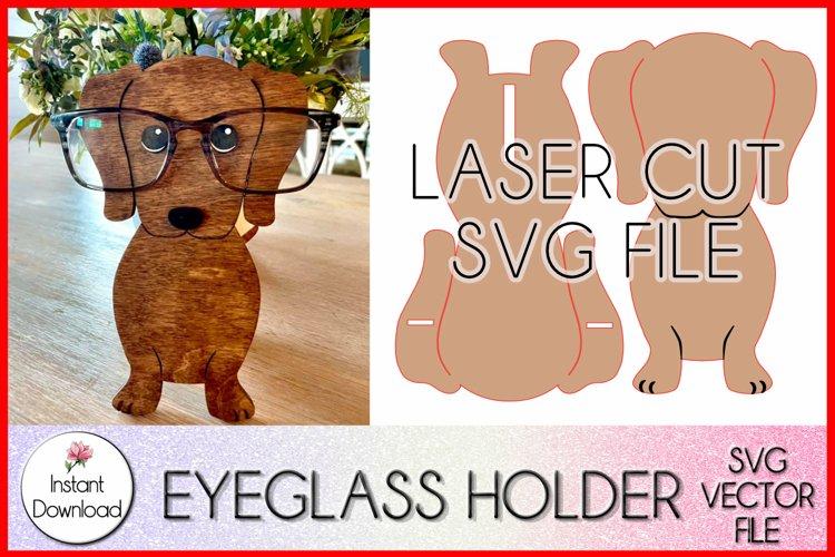 Dachshund Eyeglass Holder SVG, Weiner Dog SVG