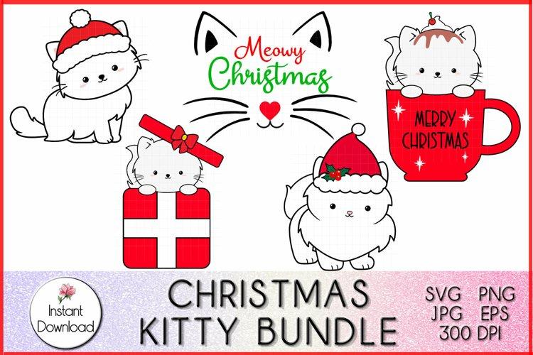 Christmas Kitty SVG, Christmas Bundle