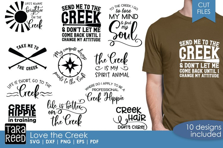 Love the Creek - Creek SVG and Cut Files for Crafters