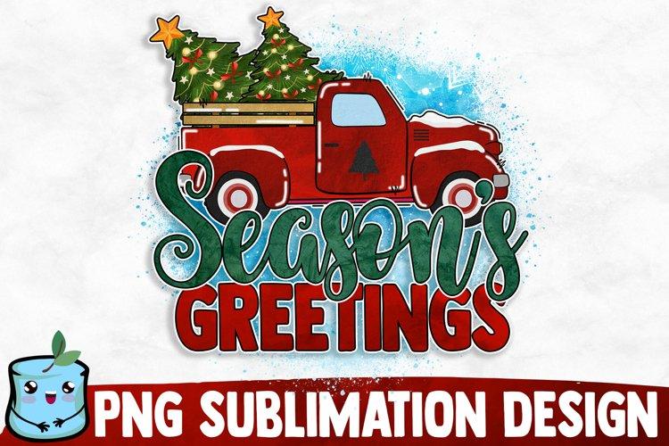 Season's Greetings - Christmas Sublimation example image 1