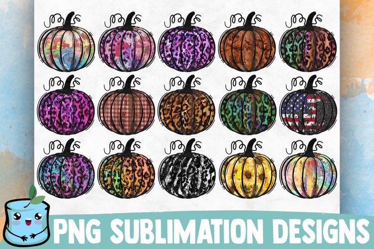 Fall Pumpkins Sublimation Bundle example image 1