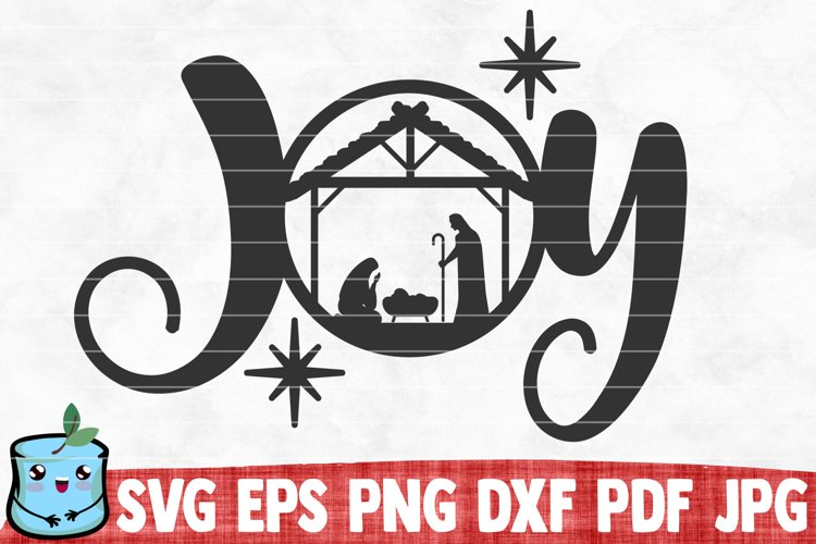 Joy - Nativity SVG example image 1