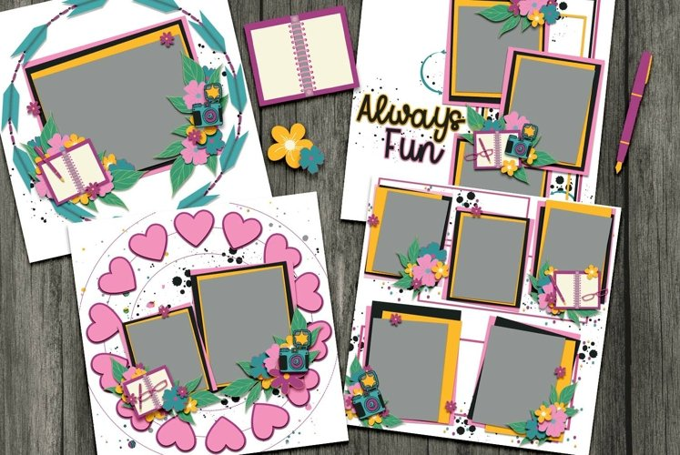 Surprise Digital Scrapbooking Templates example image 1