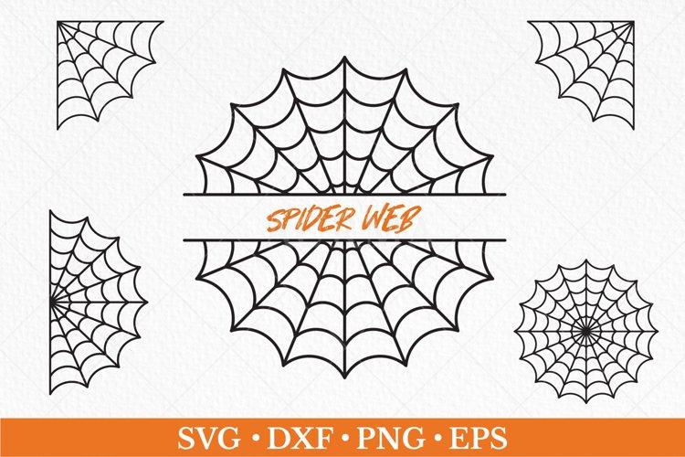 Spider web svg, Spider web split name frame, corner web
