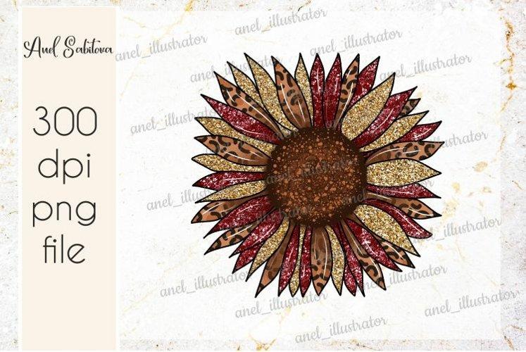 Sunflower Leopard print PNG Sublimation