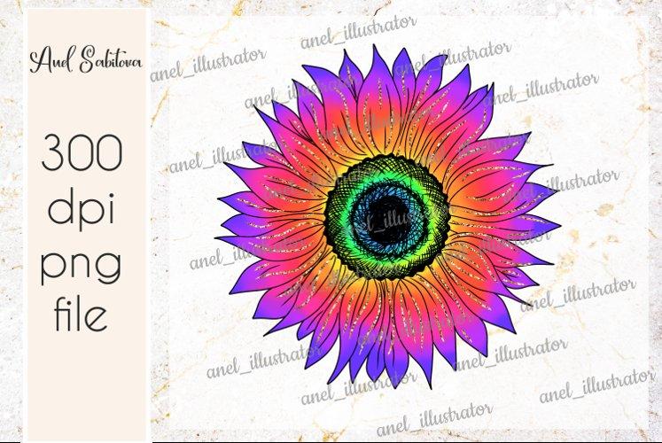 Tie Dye Sunflower PNG