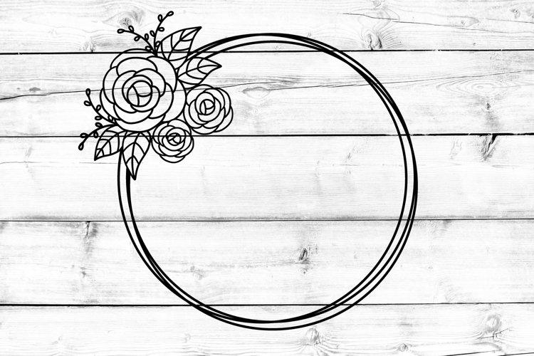 Floral Frame SVG, DXF, EPS, PNG