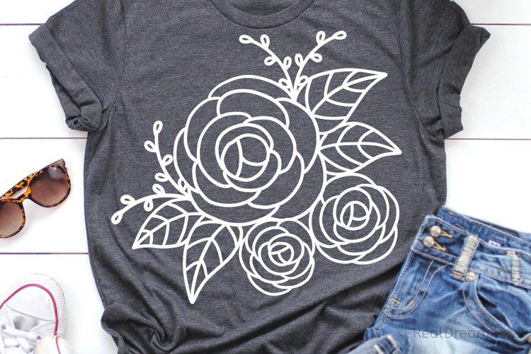 Rose Flower SVG, DXF, EPS, PNG