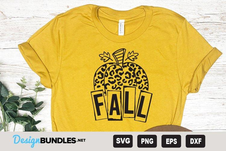 Pumpkin Fall animal print SVG   Fall clipart svg