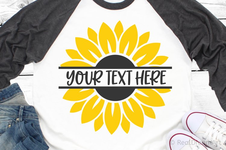 Sunflower Monogram SVG, DXF, PNG, EPS example