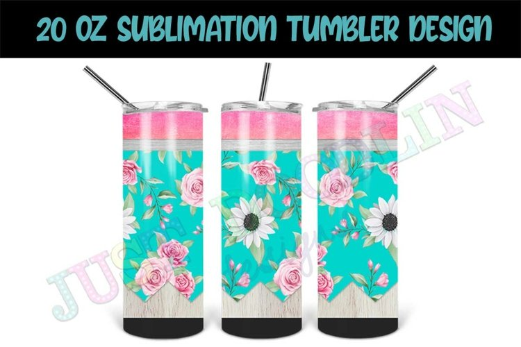 20oz Sublimation Tumbler Design