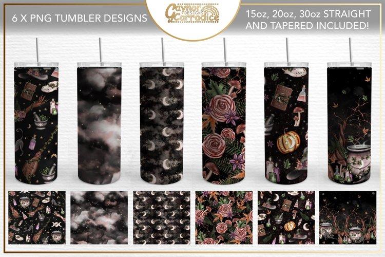 Woodland witch Sublimation Tumbler Bundle - Set of 6 Designs
